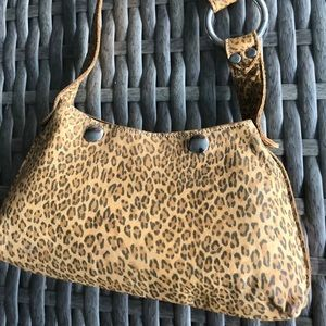 Darling Leopard small Baguette Bag - Leather